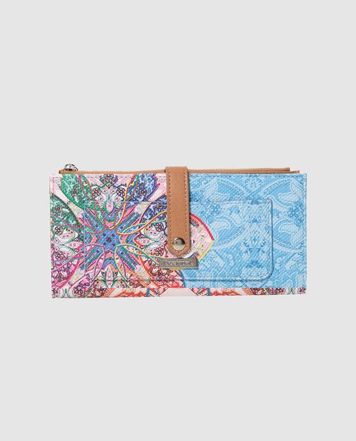 317c1f0124a Cartera de mujer mexican cards con estampado fantasía multicolor