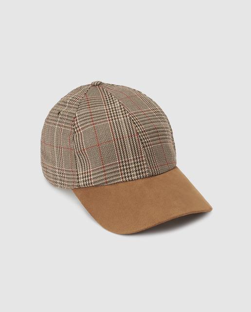 Gorra de mujer marrón con estampado 77e02ddf620